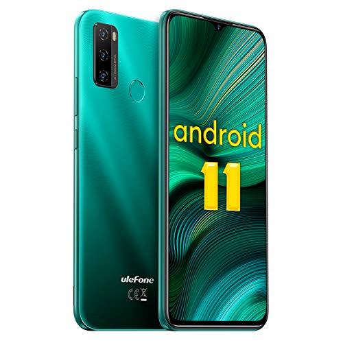 Android 11 Smartphone, Ulefone Note 10 Teléfono Móvil Libre Octa-Core 4G, Pantalla 6,52 HD+, Batería 5500mAh, 2GB + 32GB (SD 128GB) Dual SIM Moviles Baratos, Cámara Triple 8MP con IA, Face ID, OTG