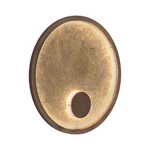 Paul Neuhaus 9710-12 A, Wandleuchte, Eisen, 17 W, gold, 40 x 40 x 7 cm