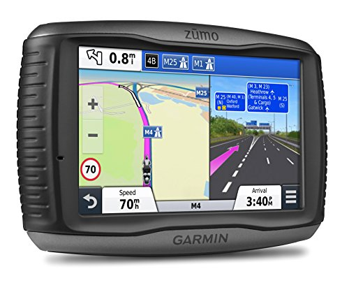 Garmin ZUMO 590LM 5 inch Motorbike Satellite Navigation with UK and Full Europe Maps; Free Lifetime Map Updates and Bluetooth