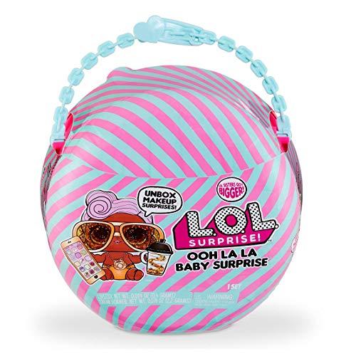 L.O.L. Surprise, Ooh La La Babies - Mega boule 15 Surprises dont 1 Babies 16 cm, sac à main, maquillage, Accessoires, Modèles Aléatoires , Jouet pour Enfants dès 3 Ans, LLU87