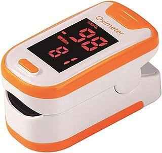 XXF Oxímetro Digital, Pulso del Dedo Oxímetro Digital De Oxígeno Arterial Y El Pulso Sensor Medidor con SPO2 con Lecturas Rápidas Y Pantalla LED para Adultos/Niños/De Deportes,Naranja