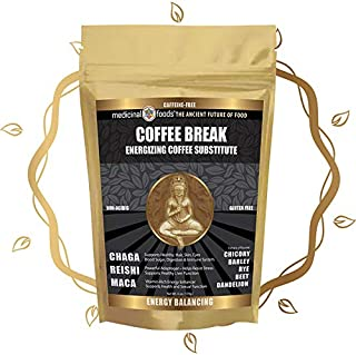 Medicinal Foods Coffee Break Healthy Energy Drink: Caffeine-Free Coffee Substitute, Loaded w/ Superfoods, such as Chaga, R...