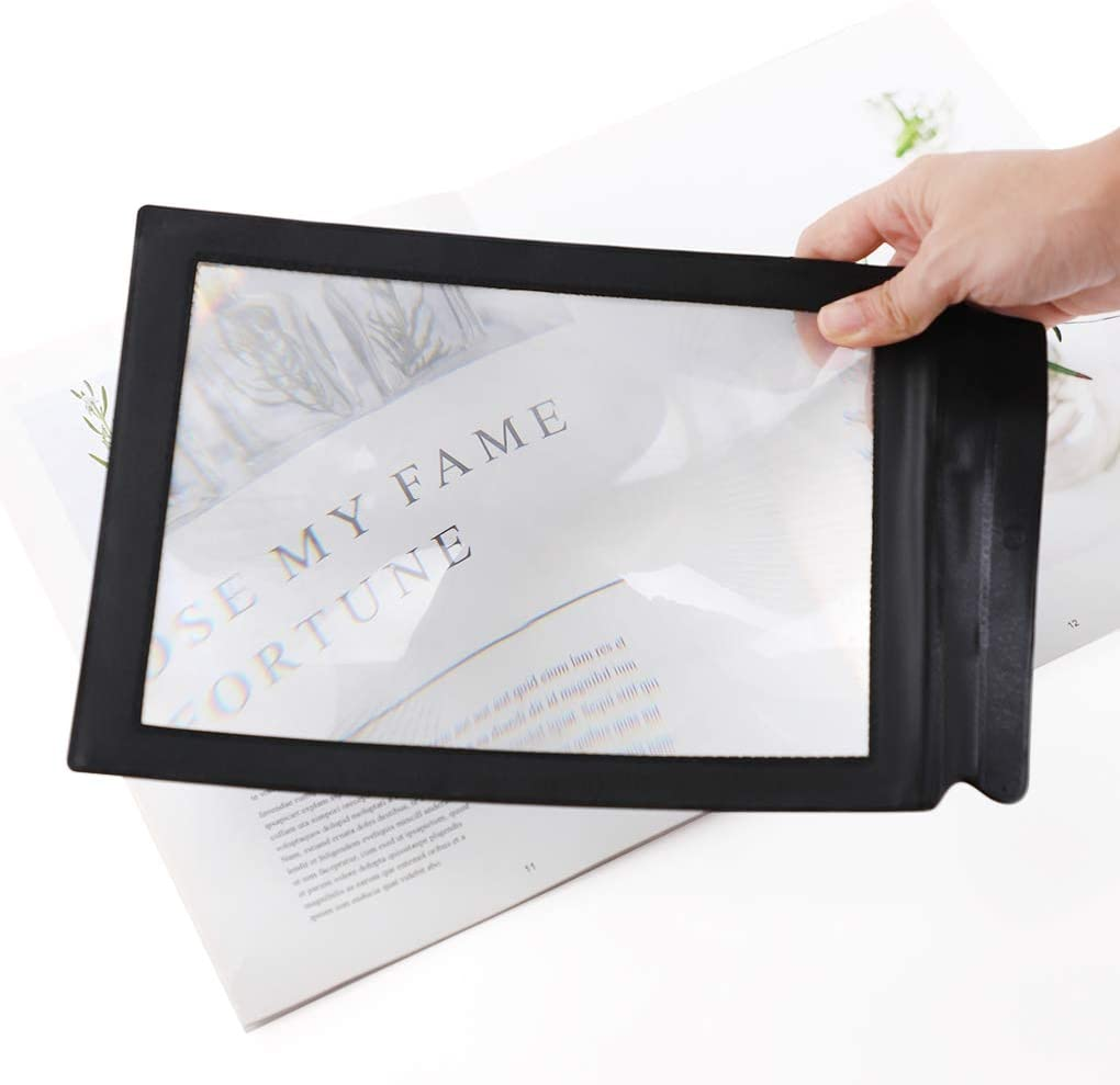 A4 Full Page Handheld Magnifier Finally popular brand Sheet Glass Courier shipping free shipping Magnifying Readin 3X