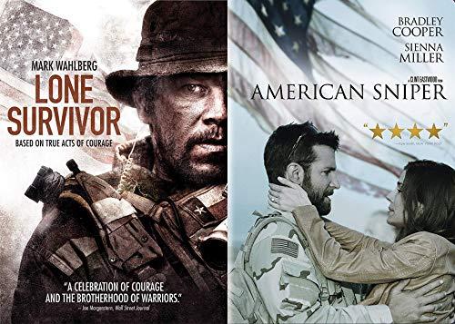 True American Acts of Courage: Lone Survivor & American Sniper Double Feature 2-DVD Movie Bundle