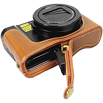 Negro Protectora Bolsa Caso Para Cámara Panasonic Lumix GX85 con la correa y almacenamiento