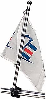 Sea-Dog 327122-1 Adjustable Rail Mount Flag Pole - 15-1/4