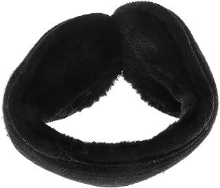 Dolity Unisex Winter Ear Warmers Foldable Stretchable Plush Fleece Earmuffs Behind Head