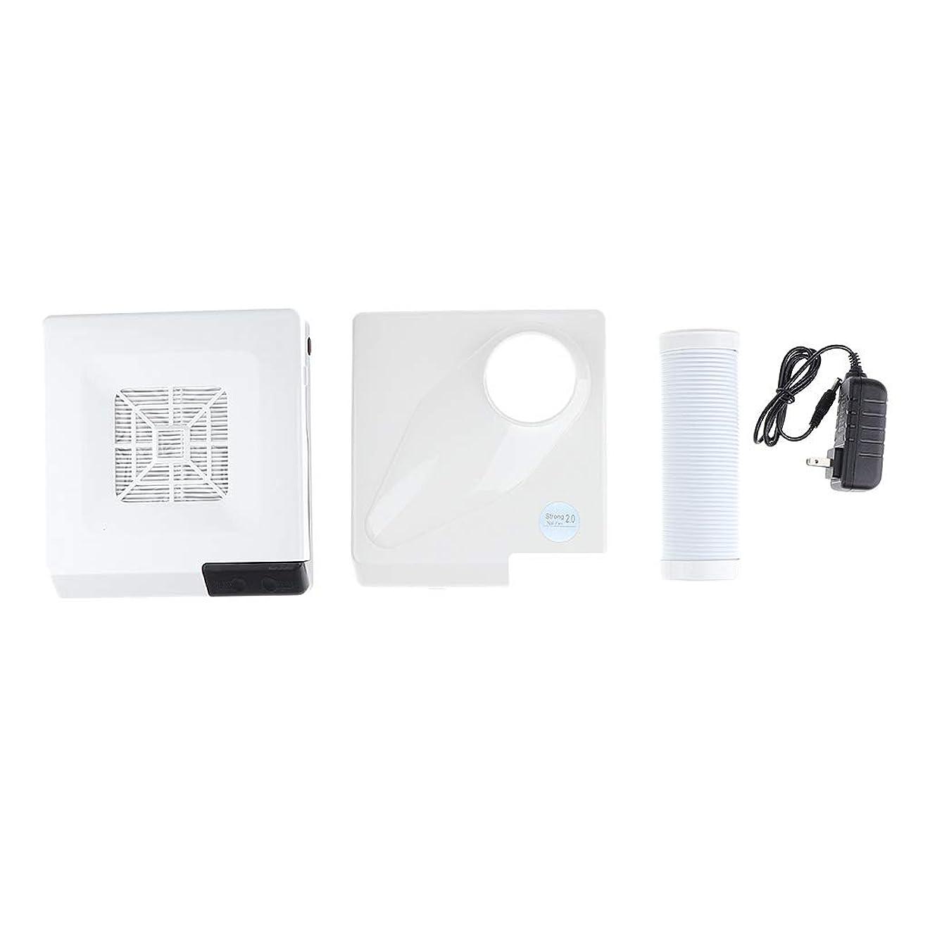 想像力焦げ事業B Blesiya ネイルダストコレクター 60W ネイルサロン プロ 2色選べ - 白