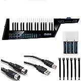Alesis Vortex Wireless 2 USB/MIDI Keytar Controller + 4 AA Batteries & Charger + MIDI...