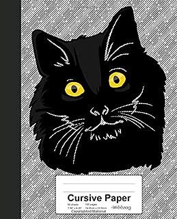 Cursive Paper: Book Bombay Cat (Weezag Cursive Paper Notebook)