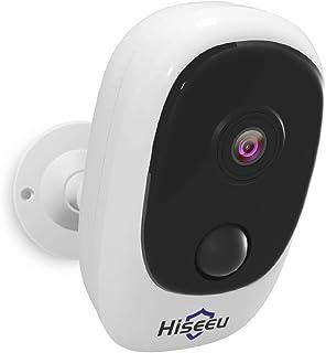 小さくてコンパクト [Latest rechargeable battery-powered, fully wireless network camera]Hisee ..