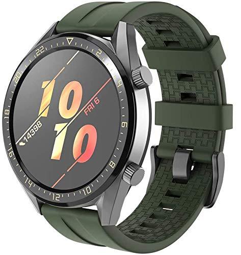 Gransho Compatible con Garmin Vivoactive 4 Correa de Reloj, Banda de Reemplazo Silicona Suave Sports Pulsera (22mm, Pattern 1)