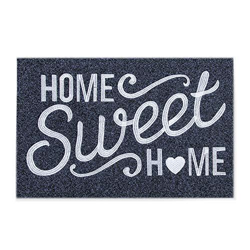Felpudo, felpudo de puerta para interiores y exteriores, con respaldo de goma antideslizante, para hogar dulce y hogar, ultra absorbente, fácil de limpiar, resistente