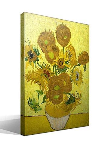 Cuadro Canvas Sunflowers - Girasoles de Vincent Willem Van Gogh - 55cm x 75cm