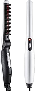 RYLAN Quick Hair Styler for Men Electric Beard Straightener Massage Hair Comb Beard Comb Multifunctional Curly Hair Straightening Comb Curler, Beard Straightener, Beard Straightener For Men(White)