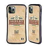 Head Case Designs Licenciado Oficialmente Peaky Blinders Tienda de apuestas Shelby Insignias de ubicación Carcasa híbrida Compatible con Apple iPhone 11 Pro MAX