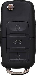 Liamgate Ersatz Schlüsselgehäuse mit Rohling geeignet für VW Schlüssel mit 3 Tasten