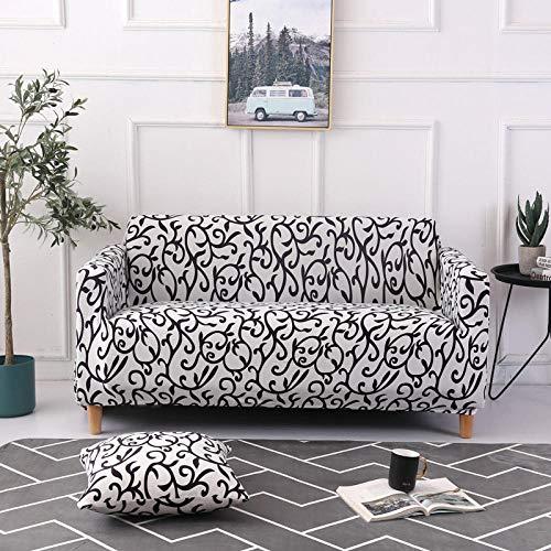 Allenger Funda de sofá de Alta Elasticidad,Funda de sofá elástica, Funda de protección de Muebles con patrón Impreso, Funda de cojín Antideslizante para Sala de Estar-Color 17_235-300cm