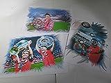 3 geniale Kunstdrucke mit FC BAYERN-STARS-zum Preis von 2