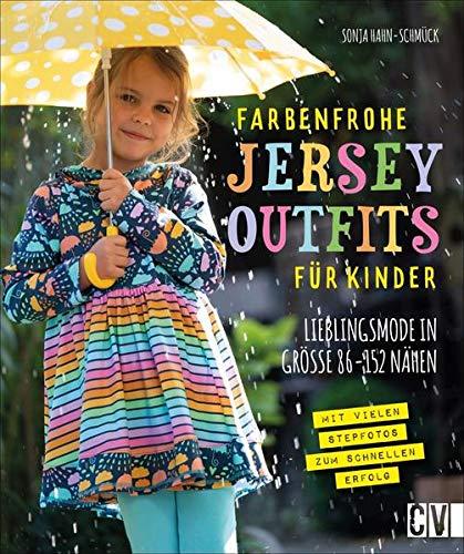Farbenfrohe Jersey-Outfits für Kinder. Lieblingsmode in Größe 86 - 152 nähen. Bunte Jersey Kinderkleidung mit detaillierten Schnittmustern ganz einfach selber nähen.
