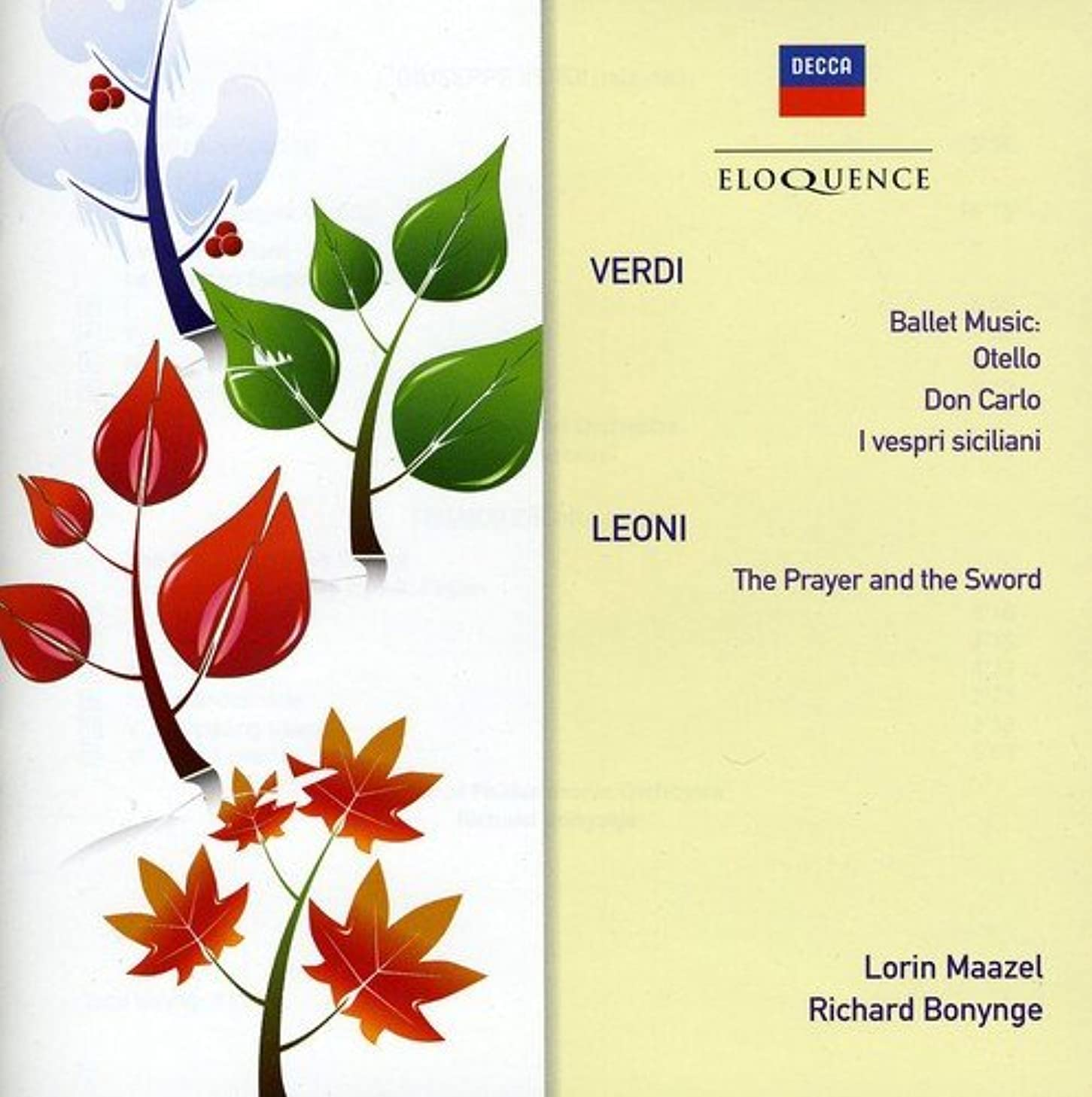 Verdi: Ballet Music from Opera / Leoni: Prayer and the Sword