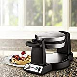 Cuisinart Di FWM-25PC2 Innovative Round Rotary Flip Home Belgian Waffle Maker, 7...