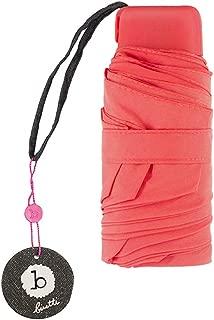 Ultralight Mini Portable Umbrella Rain and Rain Umbrella Sun Protection UV Umbrella Pocket Umbrella HYBKY (Color : Red)