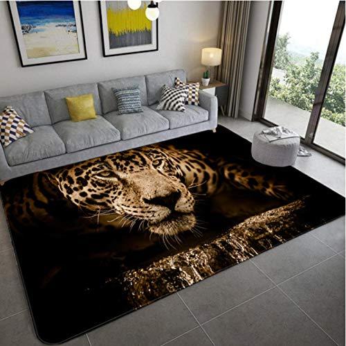 Animal Tigre 3D Impreso Alfombra Sala De Estar Alfombra Antideslizante Dormitorio Exquisita Alfombra De Poliéster 140 * 200 Cm