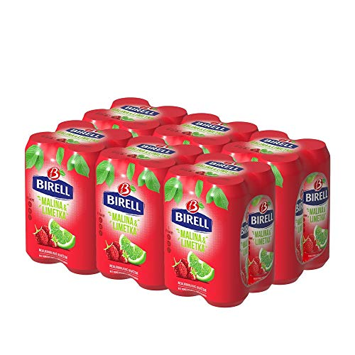 Birell Limetka & malina Erfrischendes alkoholfrei Radler mit Limette und Himbeere Geschmack (24 x 500ml) EU Dosenbier