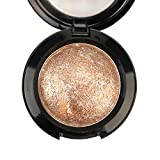 Mallofusa Single Color Baked Eye Shadow Palette Glitter Powder ,Brown,CES3812