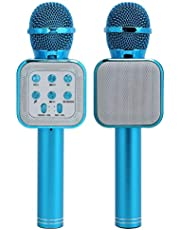Trådlös Bluetooth-mikrofon, LED-lampa Blinkande Handhållen mikrofon Trelagers brusreducering Stereo Surround Bärbar mikrofon för Karaoke