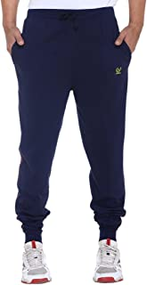 VIMAL JONNEY Men's Navy Blue Cotton Trackpants-D8NAVY-P
