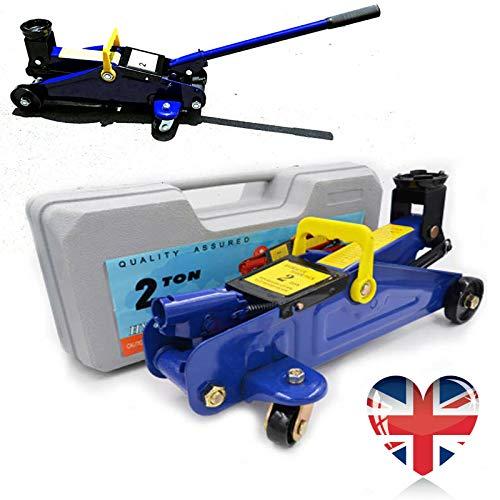 Feidak Heavy Duty 2 Tonnen Hydraulischer Wagenheber Low Profile Hebewerkzeug für Auto Van Caravan Garage