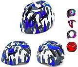 crojuento- Casco Bicicleta niños 2-10, protección LED Intermitente ajustabl, para niñas, niños y niñas, Casco Infantil Bici