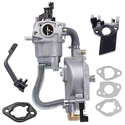 BQBS Dual Fuel Carburetor LPG NG Conversion Kit for Portable Gasoline Generator 2KW GX160 168F GX200 170F Carburetor with Manual Choke Gasket Spacer Insulator