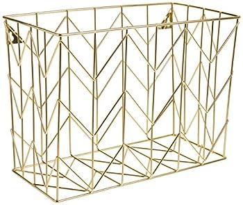 U Brands Hanging File Desk Organizer Wire Metal Gold - 894U02-06