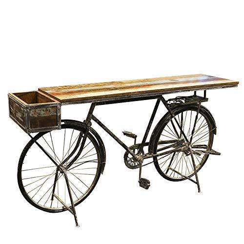 Dafloxx Genialer Bicicletta Tavolo 182cm Metallo Scaffale Credenza BAR Bike