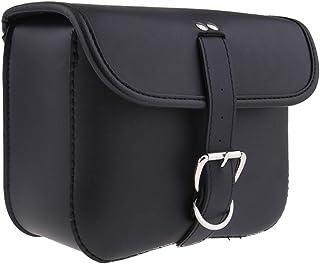 Lobboy Bisaccia Anteriore Posteriore contenitori portattrezzi Valigia Attrezzi Moto Forcella Sacchetto Impermeabile di Cuoio della Motocicletta del Sacchetto del Manubrio Pu Coda Bag Black