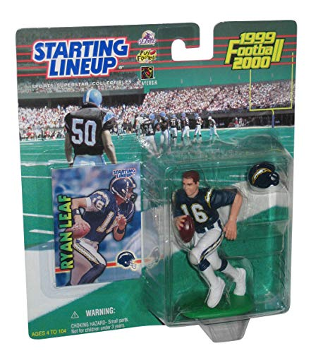 1998 Starting Lineup Ryan Leaf Chargers Extended Series Football
