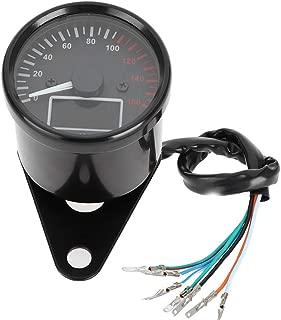 Tachometer Fuel Gauge,LED Motorcycle Tachometer Universal Motorcycle Speed Tachometer Fuel Gauges with LED Digital Display, 12V