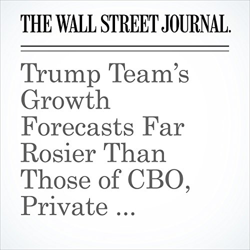 Trump Team's Growth Forecasts Far Rosier Than Those of CBO, Private Economists copertina