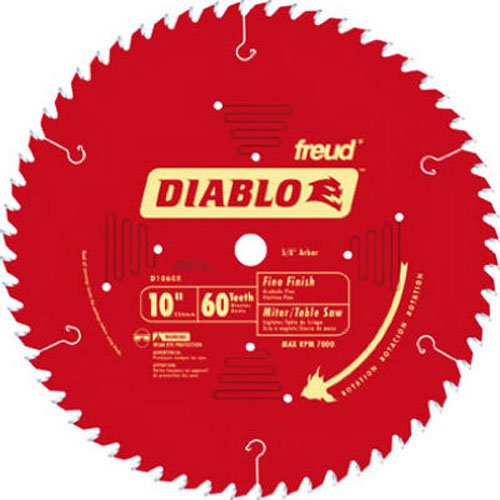 Diabo by Freud D1060X 10' x 60 Tooth Fine Finish Saw Blade