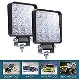 CICMOD 2 Pzs Faro LED Trabajo, 9-30V 160W 16000lm Focos LED Tractor IP67 Impermeable per Off-Road SUV UTV ATV Camión Cuadrado