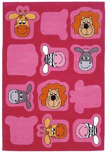 Wissenbach Kinderteppich Teppich Lifestyle Kids Tiere 2097-120 x 180 cm pink