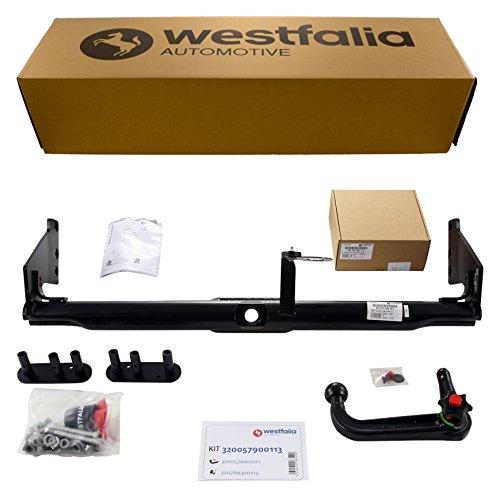 Westfalia Abnehmbare Anhängerkupplung für Volvo XC90 (BJ 10/04-06/15) im Set mit 13-poligem fahrzeugspezifischen Westfalia Elektrosatz