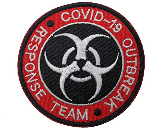 Covid 19 Outbreak Response Team Embroidery Fastener Hook & Loop Patches Coronavirus Covid 19 Pandemic Jacket Badge Jeans Applique Bag Cap (Covid 19 Outbreak Response Team)
