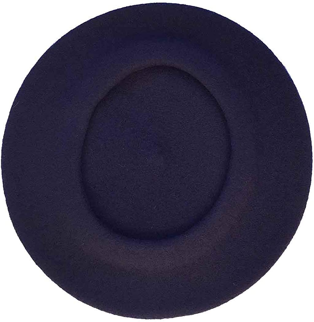 Vieux Carre Traditional French Wool Beret (Navy)