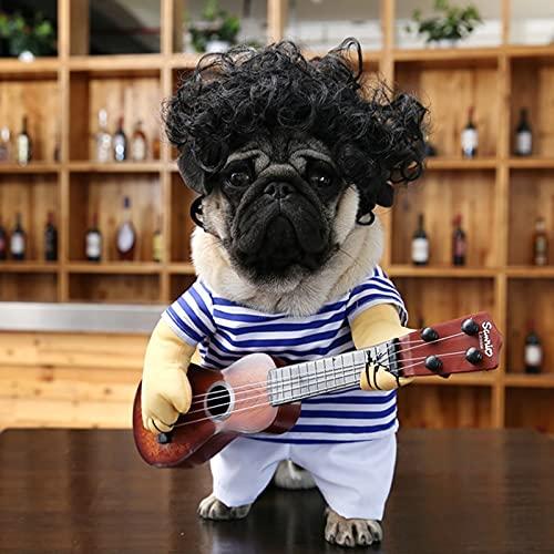 fenihooy Disfraces de Perro, Mascota Disfraz de Cosplay Funny Guitar Disfraces Mascotas...