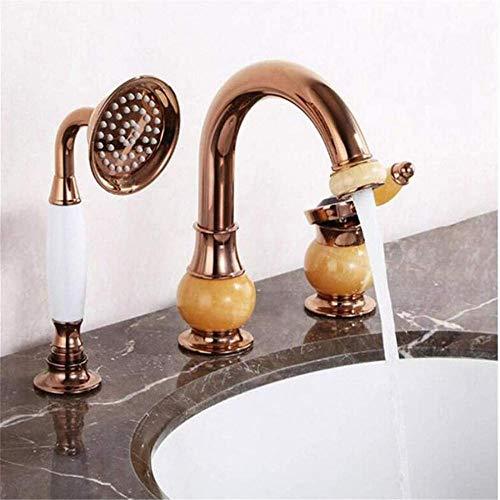 Küche Bad Waschbecken Waschbecken Bad Wasserhähne Wasserhähne Waschtischmischer Drei Löcher Sitzbecken Wasserhähne Heiß und kalt Deck montiert Ctzl5679