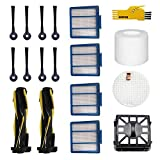 SOWOSALL Replacement Parts for Shark IQ R101AE (RV1001AE) IQ R101 (RV1001) Robot Vacuum Cleaner Accessories Kit Filters, Side Brushes, Roller Brushes
